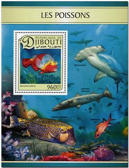 n° 154 - Timbre DJIBOUTI Blocs et feuillets