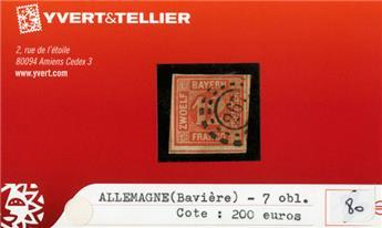 ALLEMAGNE BAVIERE - n°7 obl.