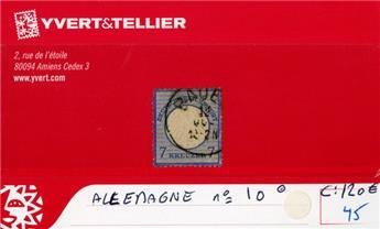 ALLEMAGNE EMPIRE - n°10 obl.