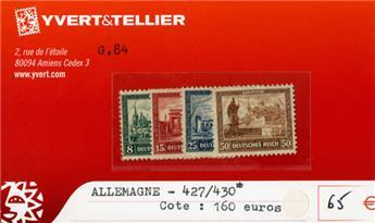 ALLEMAGNE REP.DE WEIMAR - n°427/430*