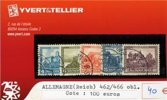 ALLEMAGNE REP.DE WEIMAR - n°462/466 obl.