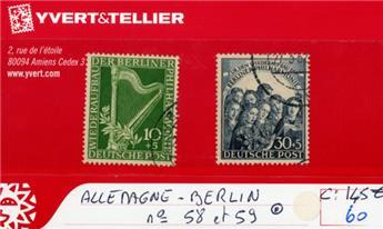 ALLEMAGNE BERLIN - n°58/59 obl.