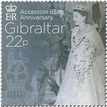 n° 1774/1779 - Timbre GIBRALTAR Poste