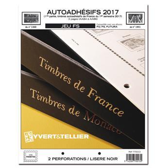 FRANCE AUTOADHESIFS FS : 2017 - 1ER SEMESTRE (jeux sans pochettes)