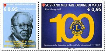 n° 1373/1374 - Timbre ORDRE de MALTE Poste