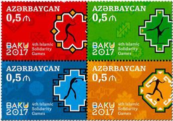 n° 955/958 - Timbre AZERBAIDJAN Poste