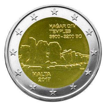 2 EURO COMMEMORATIVE 2017 : MALTE (Temples néolithiques)