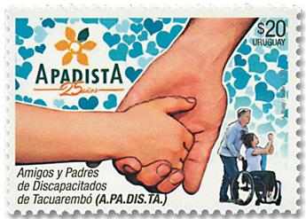 n° 2840 - Timbre URUGUAY Poste
