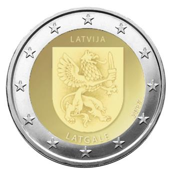 2 EURO COMMEMORATIVE 2017 : LETTONIE (ARMOIRIES DE LATGALE)