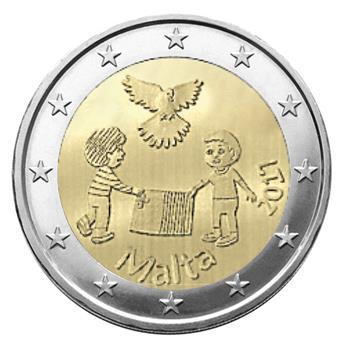 2 EURO COMMEMORATIVE 2017 : MALTE (LA PAIX)