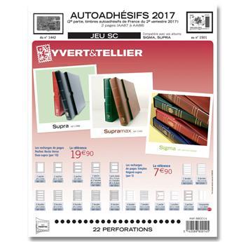 FRANCE AUTOADHESIFS SC : 2017 - 2EME SEMESTRE (Jeu avec pochettes)