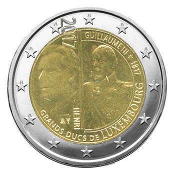 2 EURO COMMEMORATIVE 2017 : LUXEMBOURG (200e anniversaire de la naissance du Grand Duc Guillaume III)