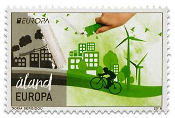 n° 422/423 - Timbre ALAND Poste (EUROPA)