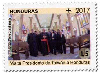 n° 1440/1448 - Timbre HONDURAS Timbres pour poste aérienne