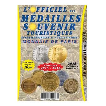 OFFICIEL DES MEDAILLES-SOUVENIR EVM MONNAIE DE PARIS (SUPPLEMENT 2018)