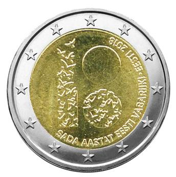 2 EURO COMMEMORATIVE 2018 : ESTONIE (100 ans République)