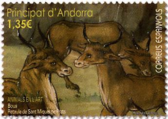 n° 449 - Timbre ANDORRE ESPAGNOL Poste