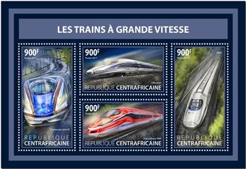 n° 5169/5172 - Timbre CENTRAFRICAINE Poste