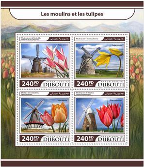 n° 1496/1499 - Timbre DJIBOUTI Poste