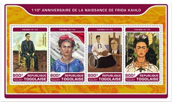 n° 5630/5633 - Timbre TOGO  Poste
