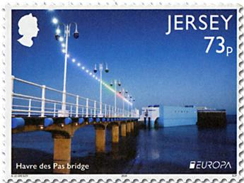 n° 2282/2283 et n° 2284/2285 - Timbre JERSEY Poste