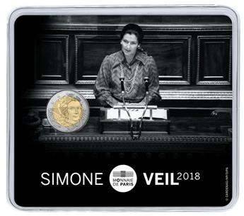 BU : 2 EURO COMMEMORATIVE 2018 : FRANCE (SIMONE VEIL)