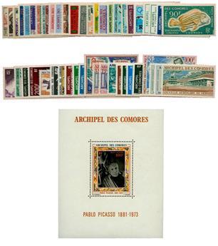 Comores : PA du n°1 au n°49* (sauf n°4) + BF n°1*