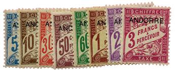 n°1/8* - Timbre ANDORRE Taxe