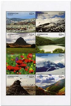 n° 1035/1042 - Timbre AZERBAIDJAN Poste
