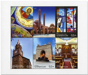 n° 991/996 - Timbre AZERBAIDJAN Poste