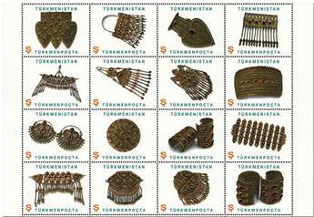 n° 317/321 - Timbre TURKMENISTAN Poste
