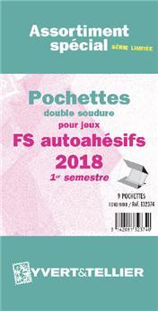 Assortiment de pochettes (double soudure) : 2018-1e sem. (Jeux Autoadhésifs)