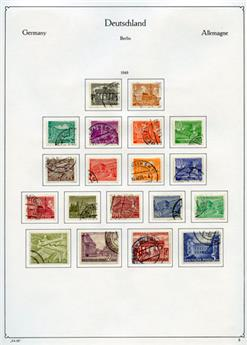ALLEMAGNE BERLIN : Petite collection obl. 1949/1974
