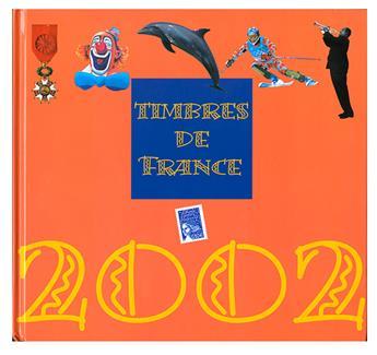 LE LIVRE DES TIMBRE DE L´ANNEE 2002