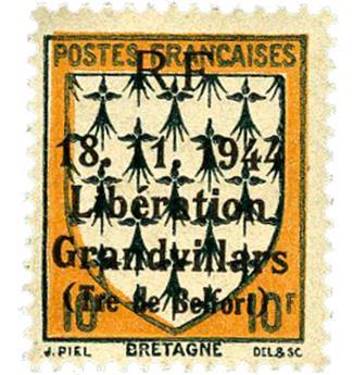 n° 17C** (MAYER) - Timbre France Libération (GRANDVILLARS)