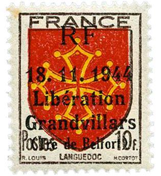 n° 21C** (MAYER) - Timbre France Libération (GRANDVILLARS)
