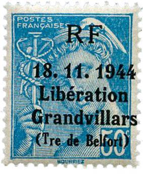n° 4M** (MAYER) - Timbre France Libération (GRANDVILLARS)