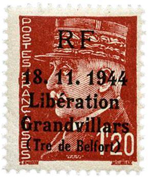 n° 9** (MAYER) - Timbre France Libération (GRANDVILLARS)