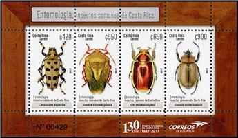 n° 57 - Timbre COSTA RICA Blocs et feuillets