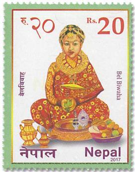 n° 1255/1256 - Timbre NEPAL Poste