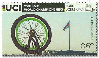 n° 1110 - Timbre AZERBAIDJAN Poste