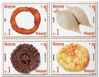 n° 1216/1219 - Timbre NEPAL Poste