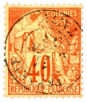 n°57 obl. - Timbre COLONIES FRANCAISES Poste