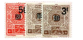 n°46/48* - Timbre MAROC Taxe