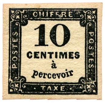 n°2* - Timbre FRANCE Taxe