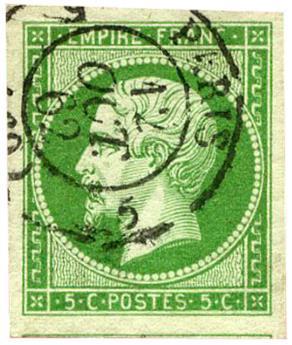 n°12 obl. TB - Timbre FRANCE Poste