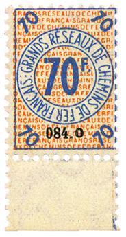 France : CP Petits Colis 1935 70 fr. neuf**