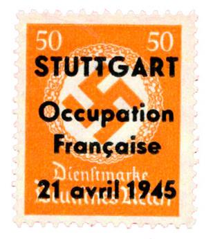 n°16(*) (MAYER) - Timbre FRANCE Libération (Stuttgart)