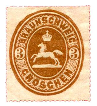 n°15* - Timbre ALLEMAGNE BRUNSWICK Poste