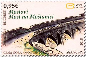 n° 418 - Timbre MONTENEGRO Poste (EUROPA)